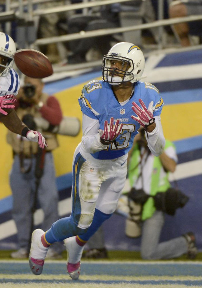 Keenan Allen wearing Under Armour Blur