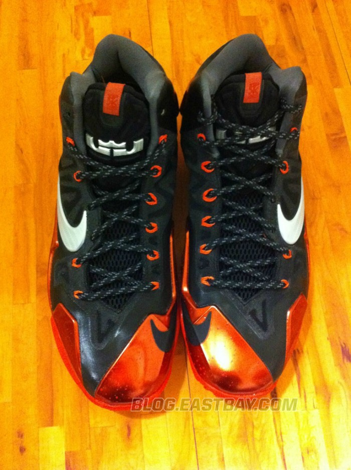Nike LeBron 11 XI Black/Red Miami Heat Away (1)