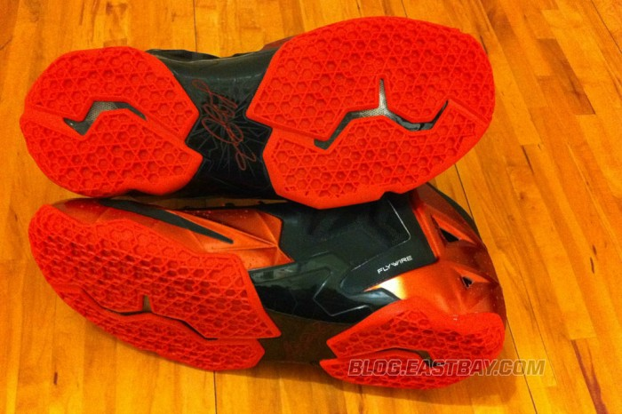 Nike LeBron 11 XI Black/Red Miami Heat Away (2)