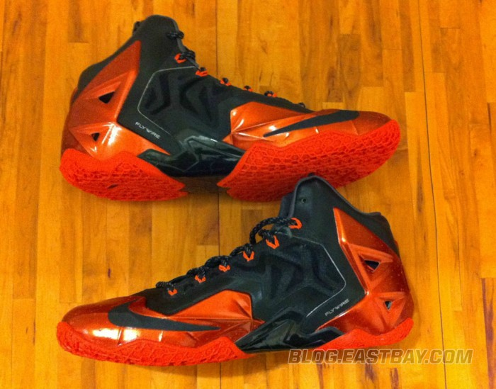 Nike LeBron 11 XI Black/Red Miami Heat Away (5)