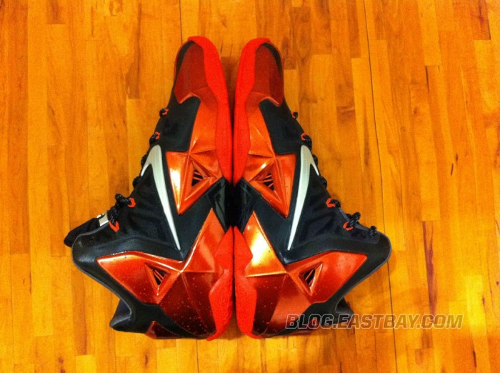 Nike LeBron 11 XI Black/Red Miami Heat Away (6)
