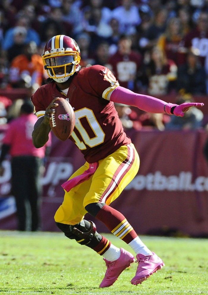 Robert Griffin III wearing adidas Crazyquick Pink