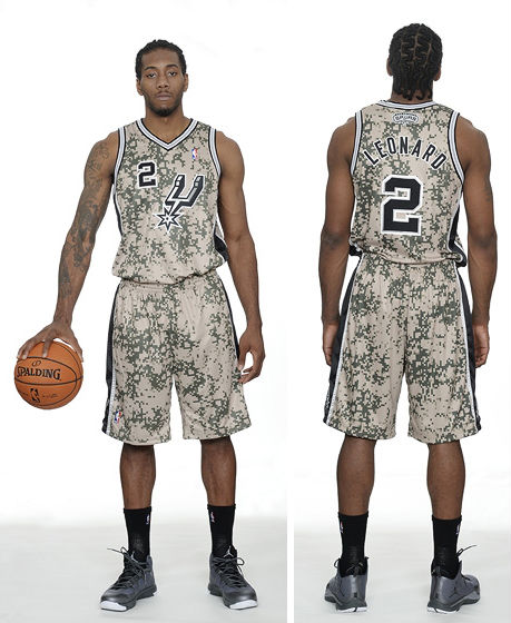 San Antonio Spurs Unveil New Military-Inspired Uniforms (2)
