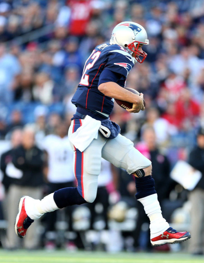 Tom Brady wearing Custom Under Armour Cleats