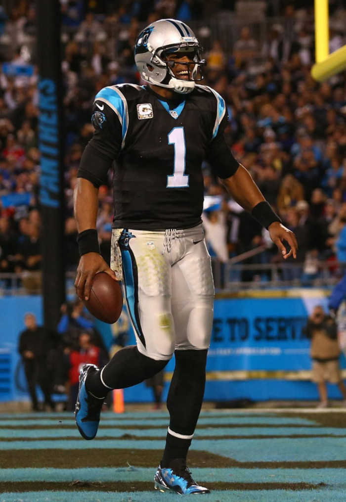 8bded68f4fe0 Cam Newton wearing Under Armour Highlight '14 Low