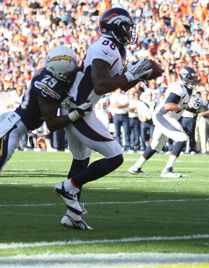 Demaryius Thomas wearing Nike CJ81 Elite TD