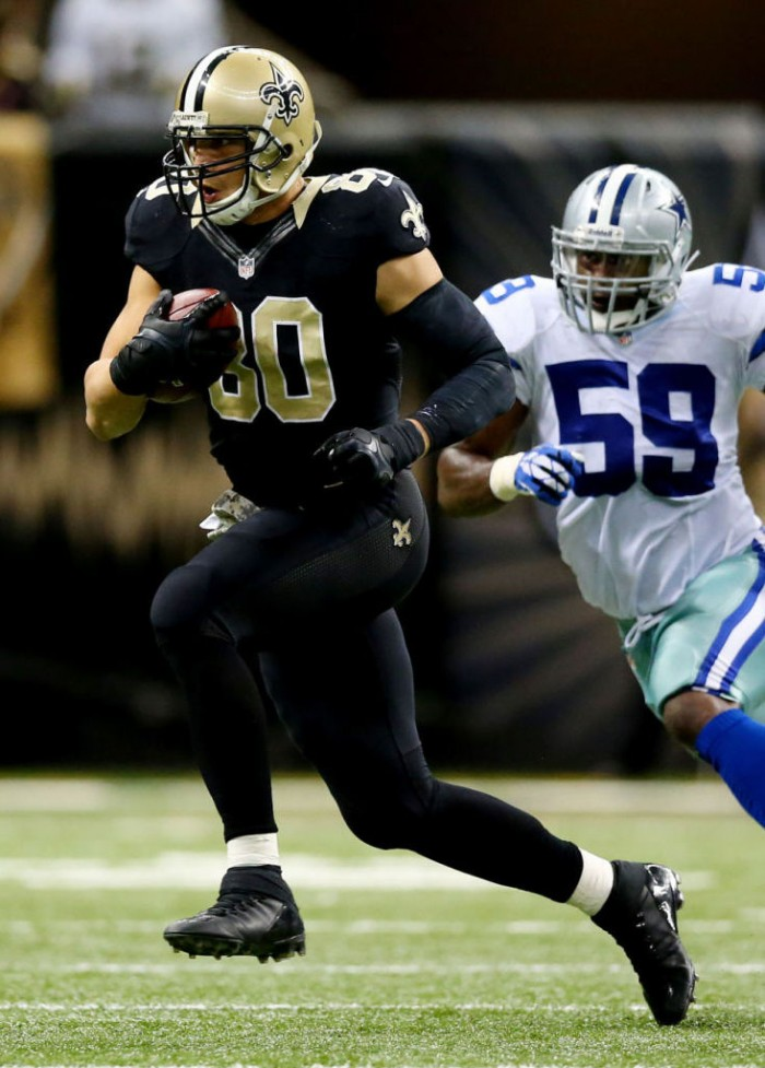 Jimmy Graham wearing adidas Filthy Quick Mid