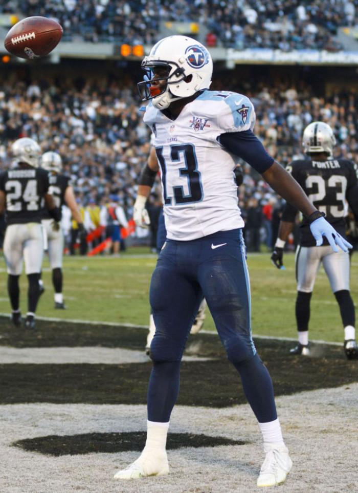 Kendall Wright wearing adidas adizero 5-Star