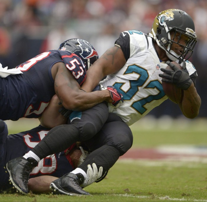 Maurice Jones-Drew wearing Nike Lunar Superbad Pro