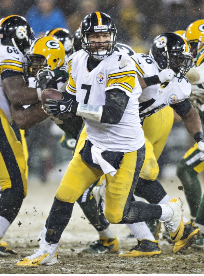 Ben Roethlisberger wearing Nike Lunar Superbad Pro Low PE