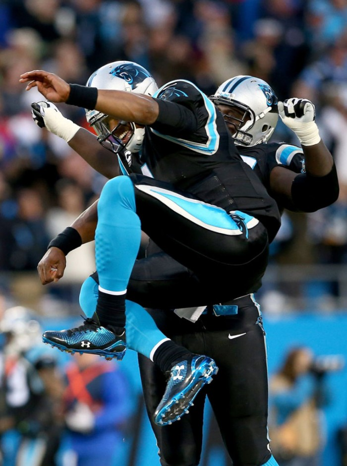 Cam Newton wearing Under Armour Highlight 2014 Low