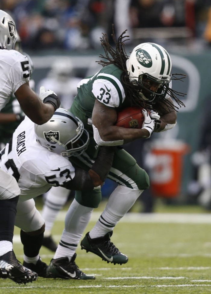 Chris Ivory wearing Nike Alpha Pro