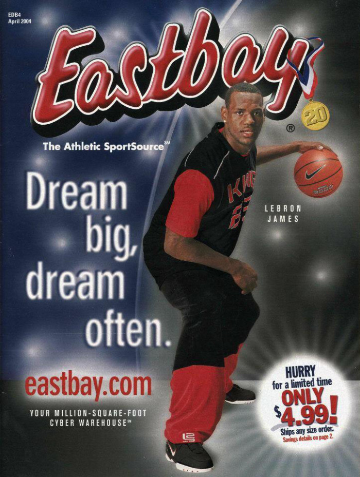Eastbay Memory Lane // LeBron James, April 2004