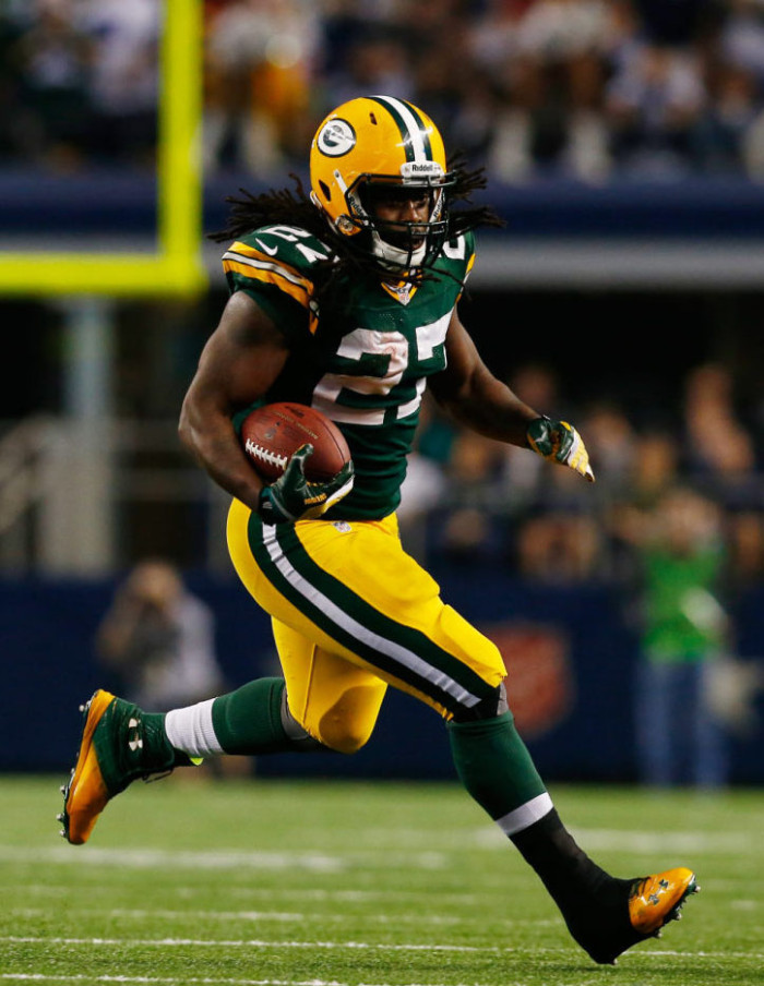 Eddie Lacy wearing Under Armour Highlight