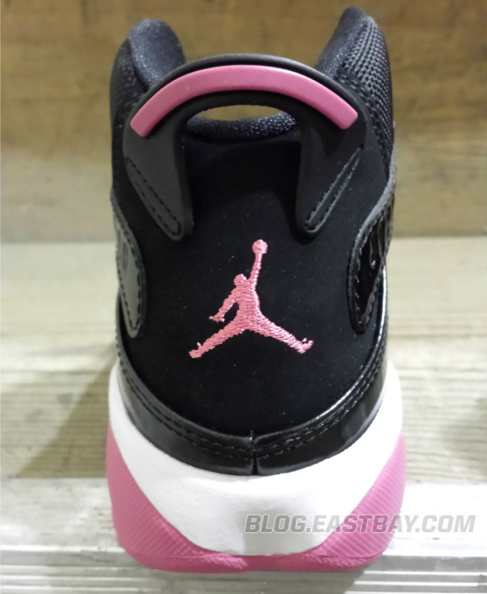 Jordan 6 Rings Girls - Black/Spark Pink (6)