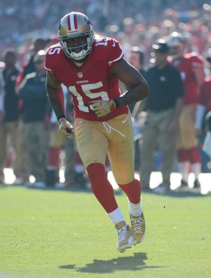 Michael Crabtree wearing Air Jordan 12 PE Cleats