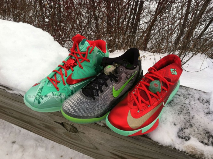 Nike Basketball Christmas Pack // LeBron 11, Kobe 8 & KD 6 (1)