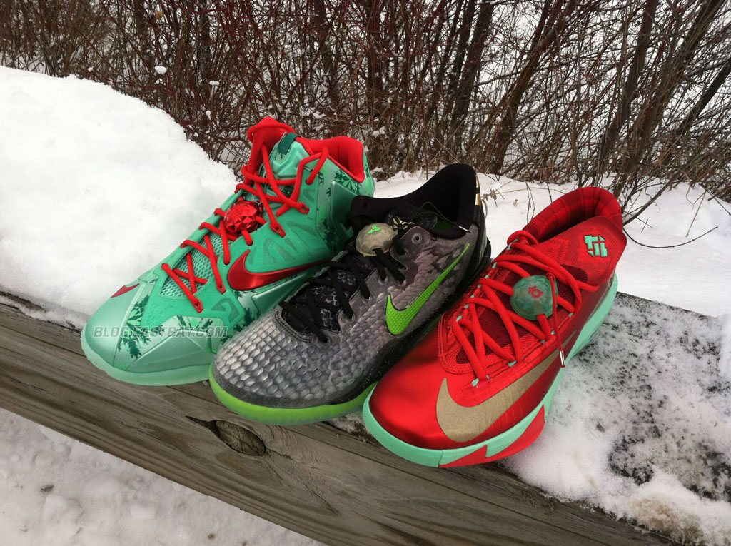 Nike Basketball Christmas Pack // LeBron 11, Kobe 8 & KD 6 | Eastbay ...