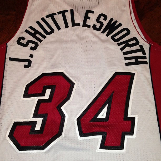Ray Allen's J. Shuttlesworth Miami Heat Jersey (2)