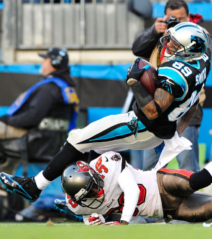 Steve Smith wearing Under Armour Mercenary 2