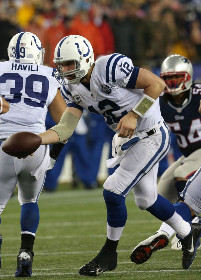 Andrew Luck wearing Nike Alpha Pro