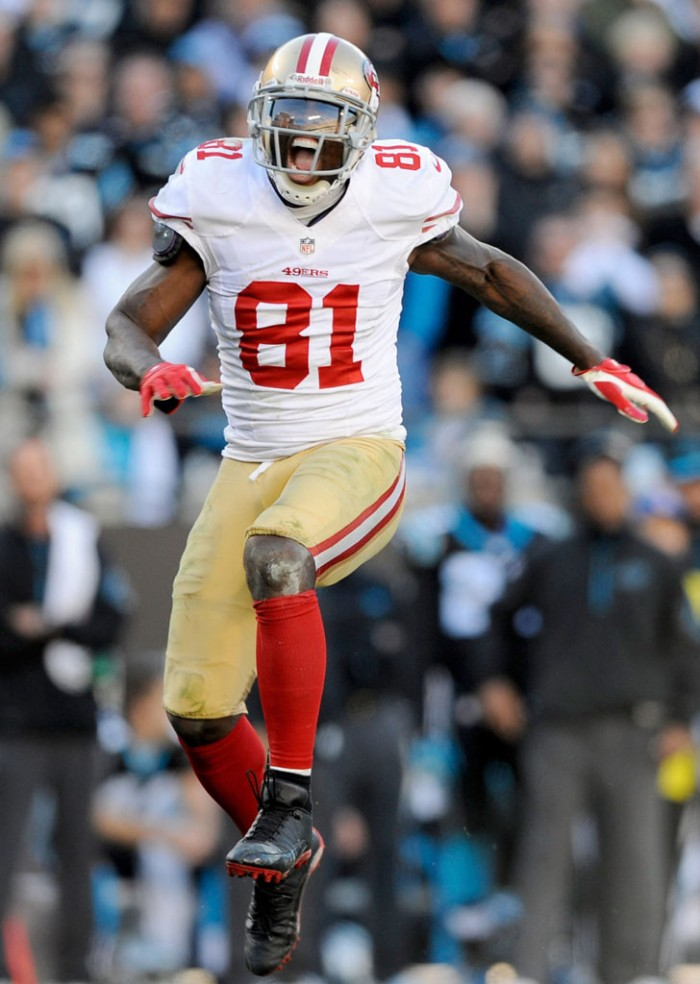 Anquan Boldin wearing Air Jordan 12 Low PE Cleats