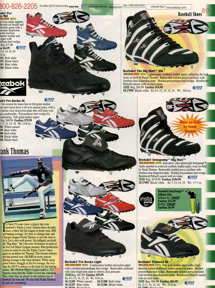 Eastbay Memory Lane Reebok Big Hurt Spring 1996 | Eastbay