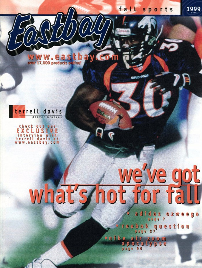 Eastbay Memory Lane // Terrell Davis Covers August 1999 Issue
