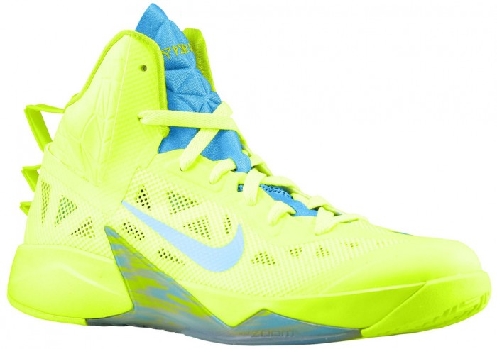 Available: Nike Hyperfuse 2013 Volt/Vivid Blue