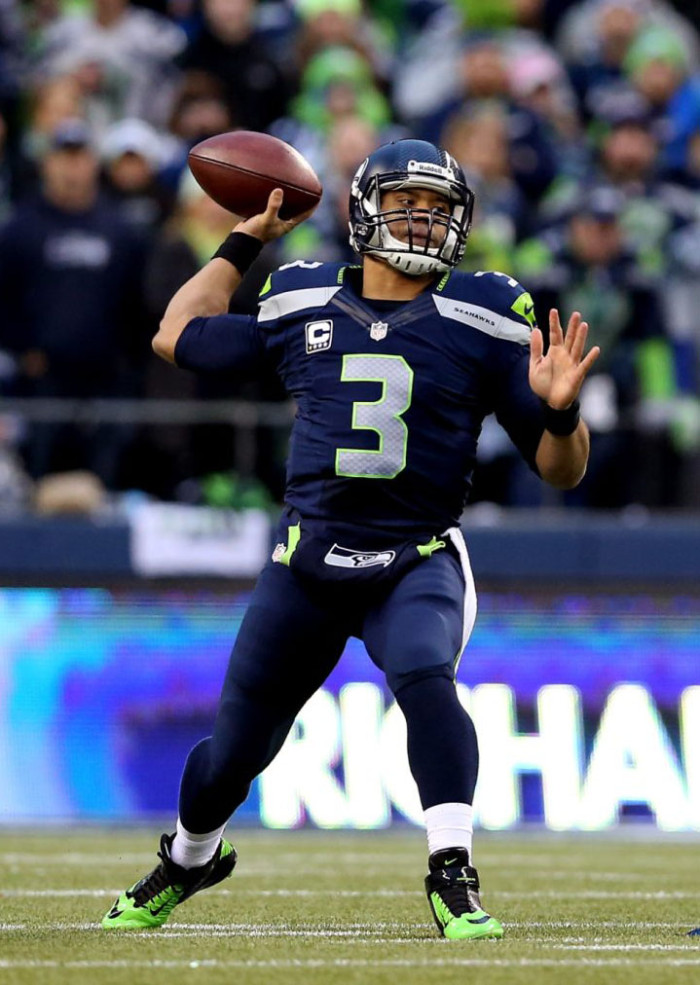 competitive price 17b0b a186f Russell Wilson wearing Nike Lunar Superbad Pro .