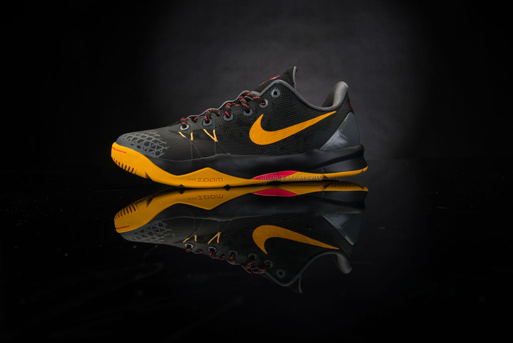 Nike Zoom Kobe Venomenon 4 - Black/University Gold-Laser Crimson-Dark Grey