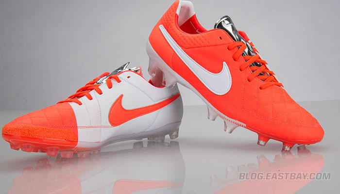 Nike Tiempo Total Crimson/Metallic Silver-White