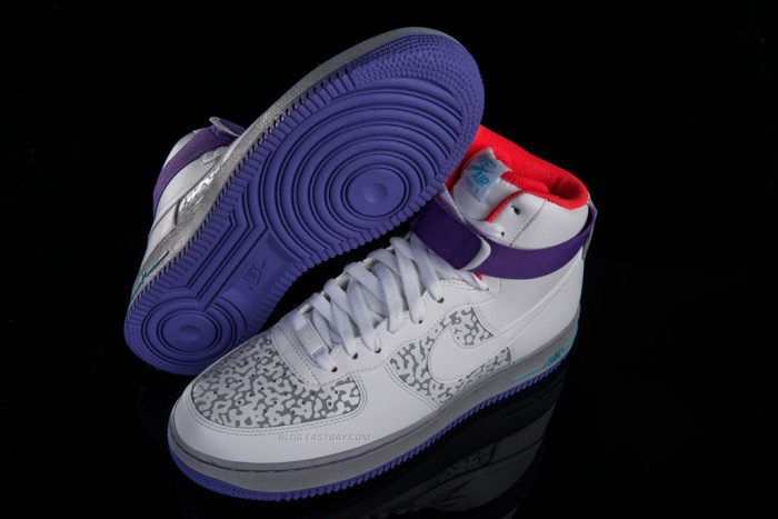Nike Air Force 1 High - White/Wolf Grey-Purple Venom (1)