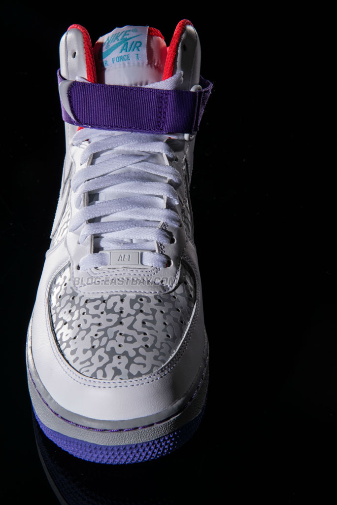 Nike Air Force 1 High - White/Wolf Grey-Purple Venom (2)