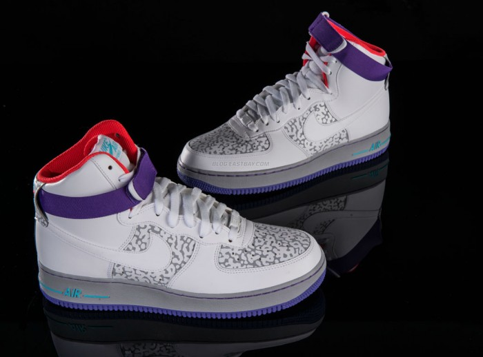 Nike Air Force 1 High - White/Wolf Grey-Purple Venom (3)