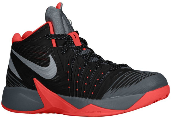 Nike Zoom I Get Buckets Black/Laser Crimson-Cool Grey-Metallic Silver (1)