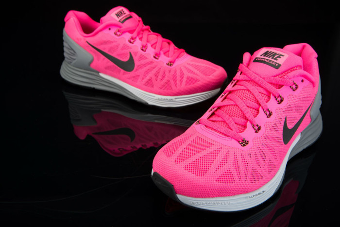 Nike LunarGlide 6 Hyper Pink-Pure Platinum-Cool Grey-Black (1)