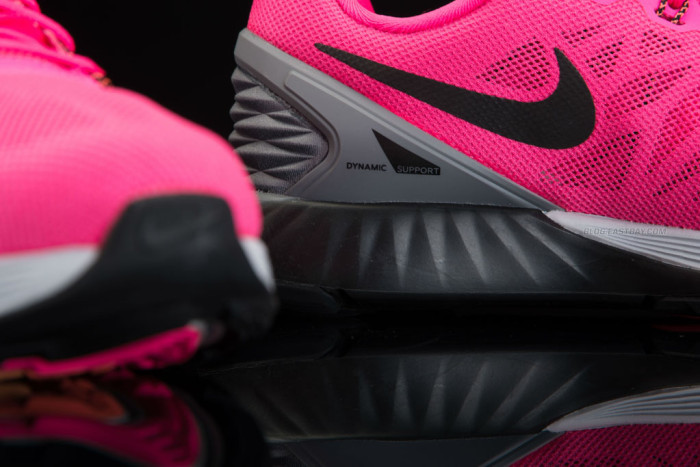 Nike LunarGlide 6 Hyper Pink-Pure Platinum-Cool Grey-Black (2)