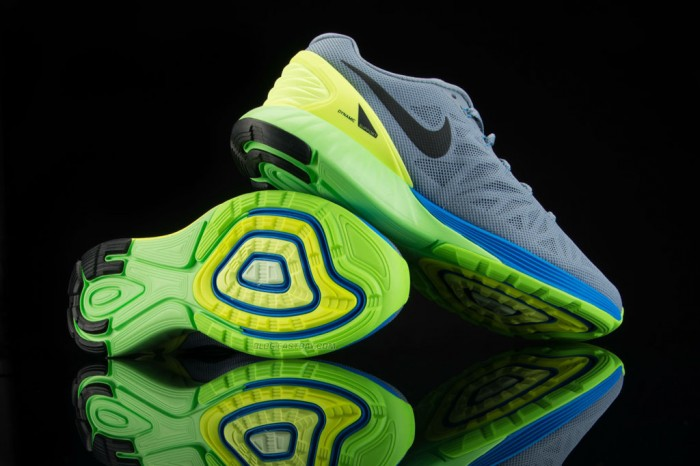 Nike LunarGlide 6 Magnet Grey/Volt-Photo Blue-Black (1)