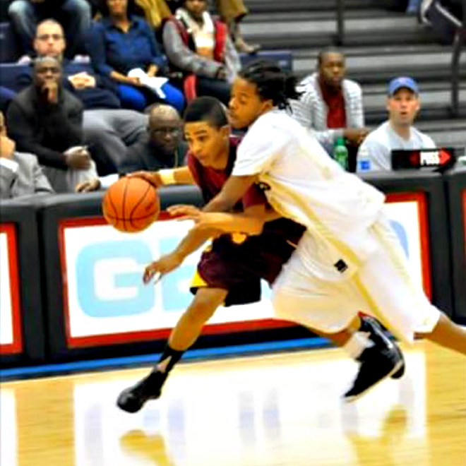 Keifer Sykes, in high school