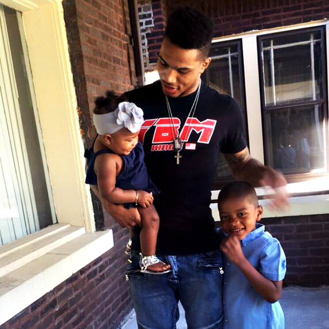 Keifer Sykes with kids