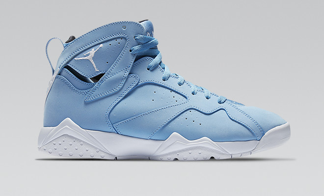 515fc9e371ef The Jordan Retro 7 drops in a university blue color scheme that s perfect  for the spring and summer months. The colorway is a nod to Michael Jordan s  North ...