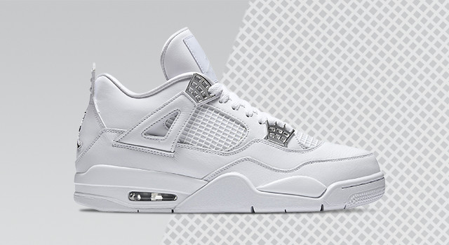 One of the cleanest colorways of the season drops this weekend in the Jordan  Retro 4 'Pure Money.' The all-white silhouette features silver accents for  a ...
