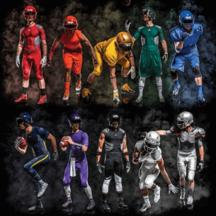 Eastbay Football Gear School Colors