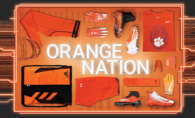 Football By Color Orange