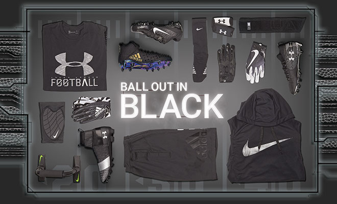 Football By Color Black