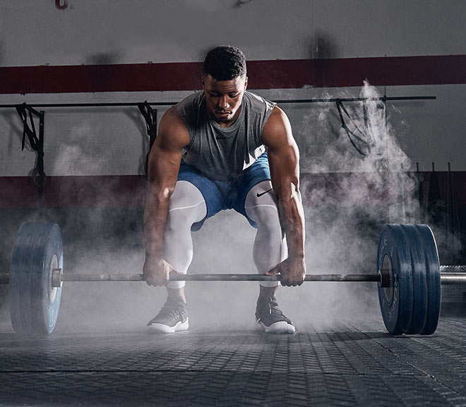 Saquon Barkley Weightlifting