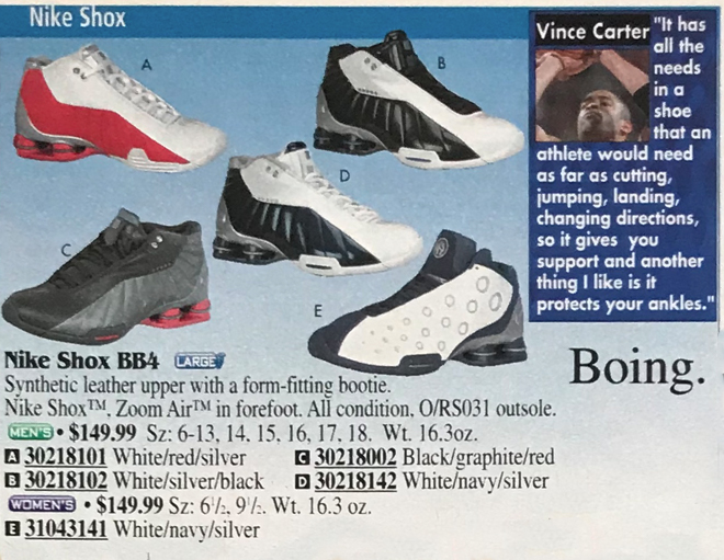 best service 1df2f 8b5d4 Nike Shox Vince Carter Quote