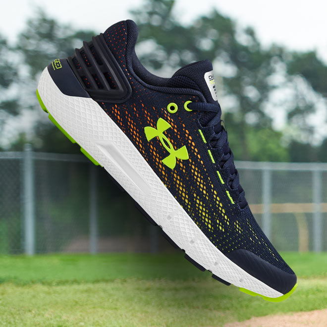 Under Armour Charged Rogue Colors: Academy/White/Hi Vis Yellow